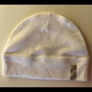 Burberry cotton baby hat